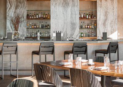 Restaurant Bar With Granite Backdrop