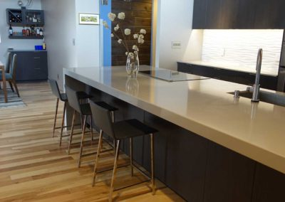 Grey Quartz Kitchen Countertop By Modulus Designs