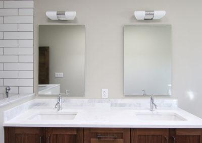 White Bathroom Vanity Counter