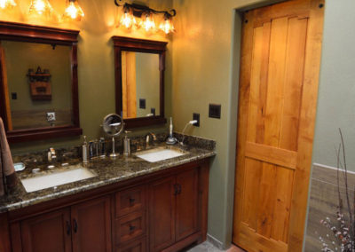 Bathroom Remodel With Granite Double Sink Counters