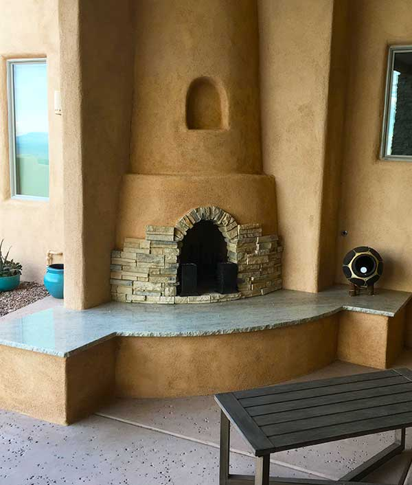 United Stoneworks Box Outdoor Countertop Fireplace Countertops By United Stoneworks In Albuquerque, New Mexico