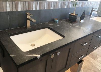 Soapstone Bathroom Double Vanity Sinks