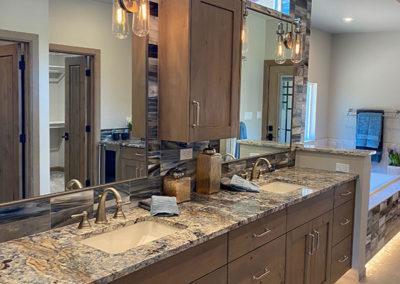 Granite Bathroom Double Vanity